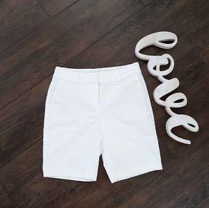 Ann Taylor Curvy White Shorts